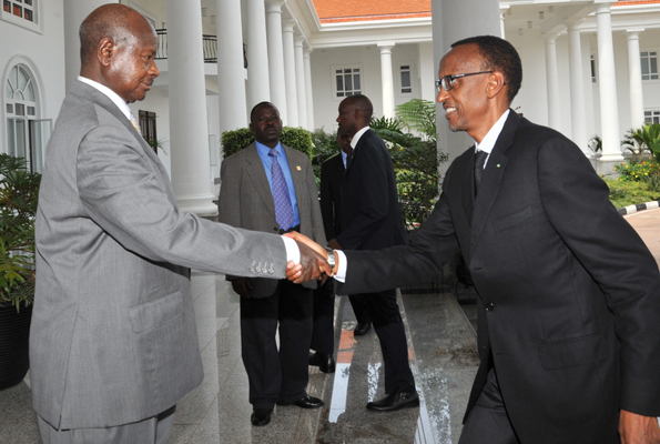 President, Dr, Gen Paul Kagame on a Special visit to Uganda begging for another service