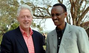 Bill Clinto with Paul Kagame