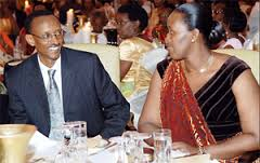 Kagame with wife