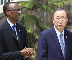 Ban-ki Moon and Angry Paul Kagame