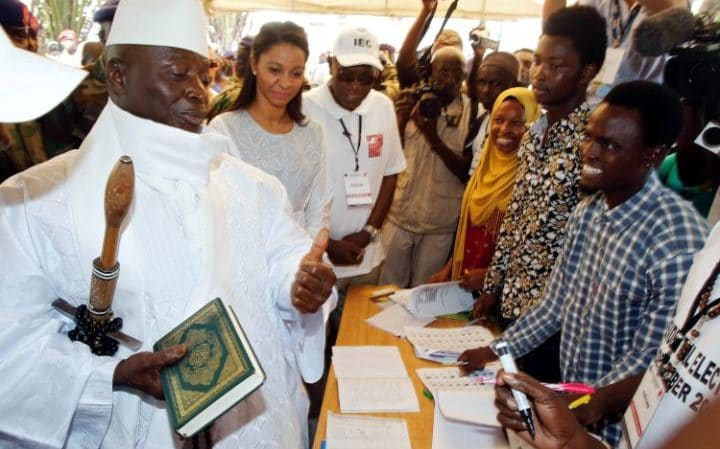 Gambian President Yahya Jammeh rejects election result which saw him deposed by former Argos security guard