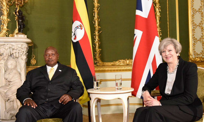 Museveni meets UK PM Theresa May