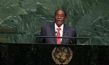 Mugabe stands up to 'Giant Gold Goliath' Trump at UN